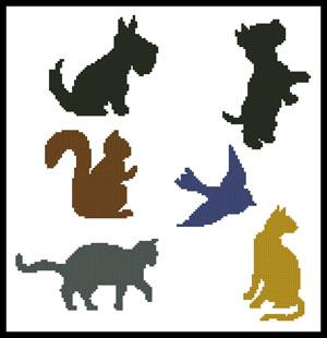 click here to view larger image of Animal Silhouettes  (Joni Prittie) (chart)