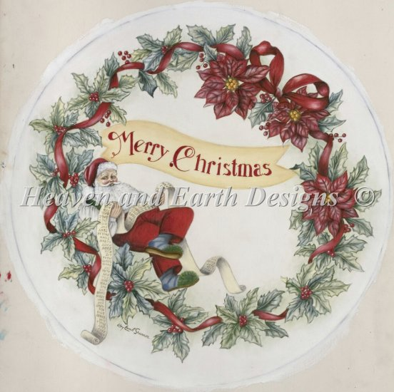 click here to view larger image of Merry Christmas Wreath (chart)