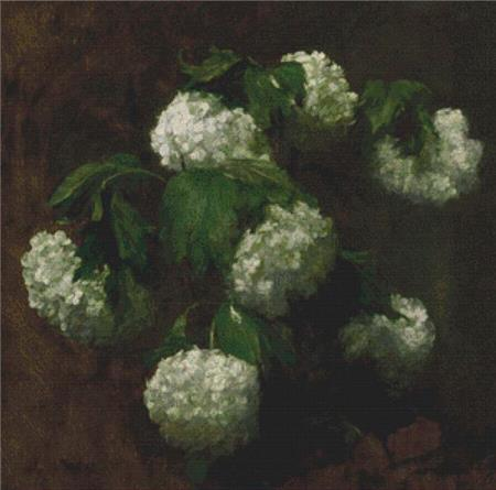 click here to view larger image of White Hydrangeas (chart)