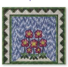 click here to view larger image of Winter Christmas Roses (counted canvas chart)