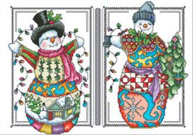 Two Happy Snowmen - click here for more details about chart