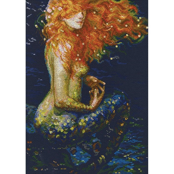 click here to view larger image of Red Mermaid (counted cross stitch kit)