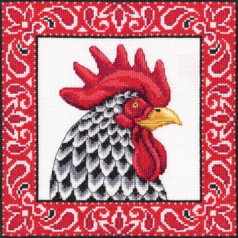 click here to view larger image of Handsome Rooster (counted cross stitch kit)
