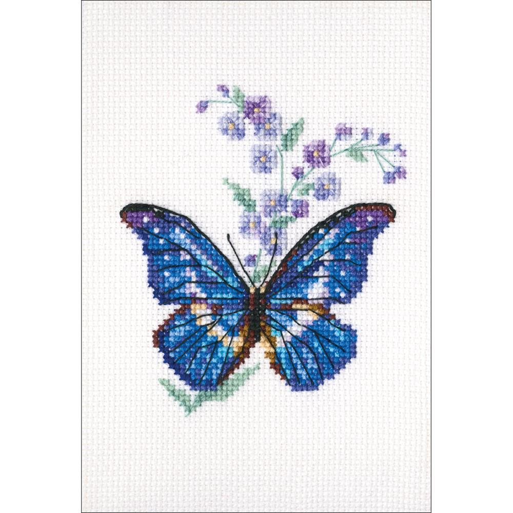 click here to view larger image of Polemonium and Butterfly (counted cross stitch kit)