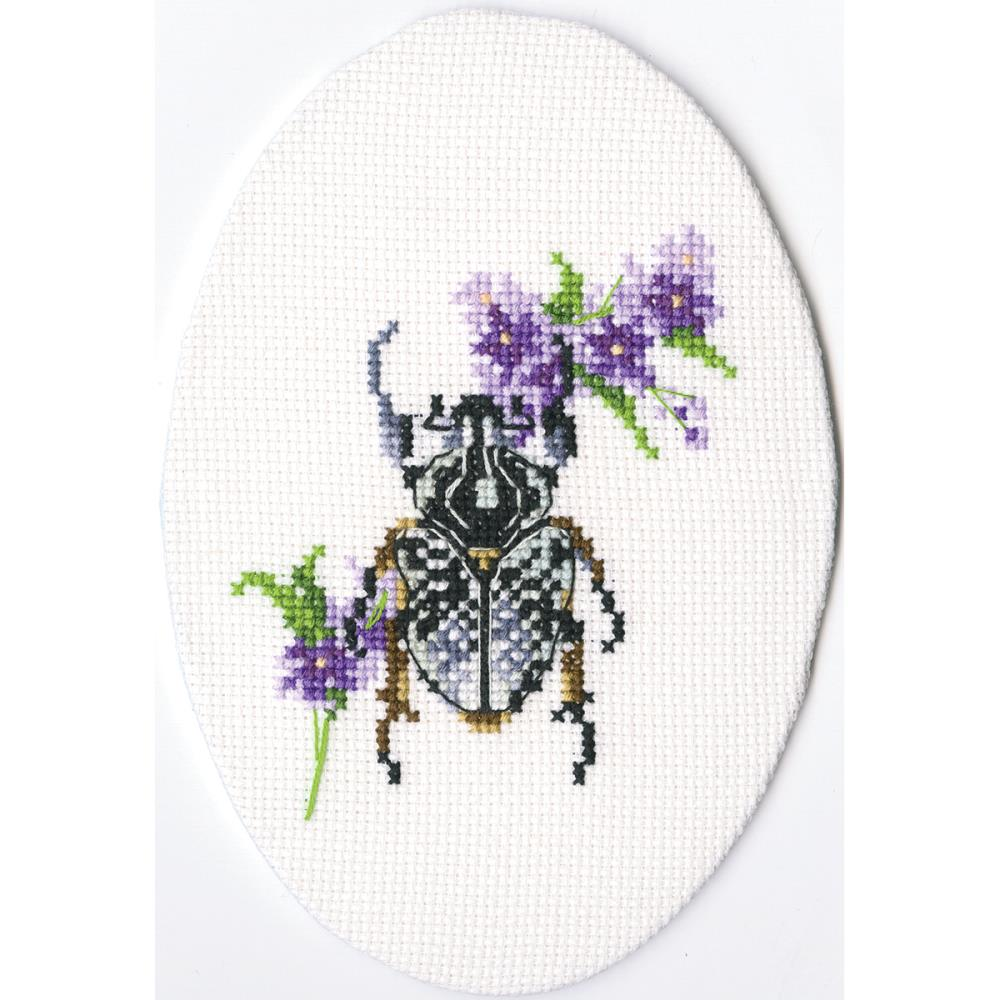 click here to view larger image of Bug On Lungwort (counted cross stitch kit)
