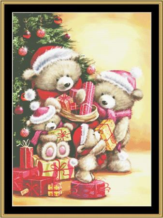 click here to view larger image of Bear Family Christmas (chart)