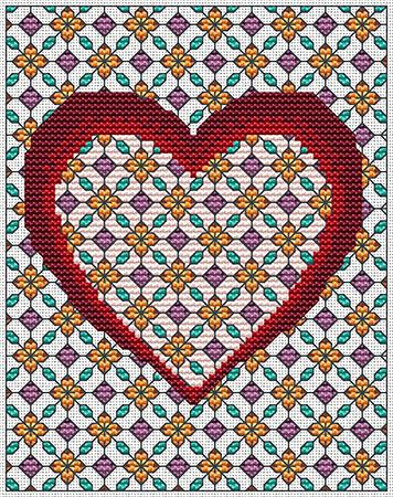 click here to view larger image of Bejeweled Heart (chart)