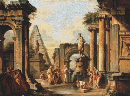 click here to view larger image of A Capriccio Of Classical Ruins With Diogenes Throwing Aaway His Cup (chart)