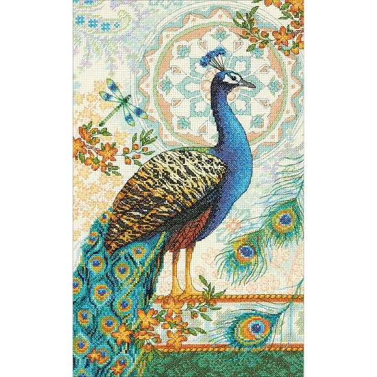click here to view larger image of Royal Peacock (counted cross stitch kit)