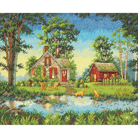 click here to view larger image of Summer Cottage (counted cross stitch kit)