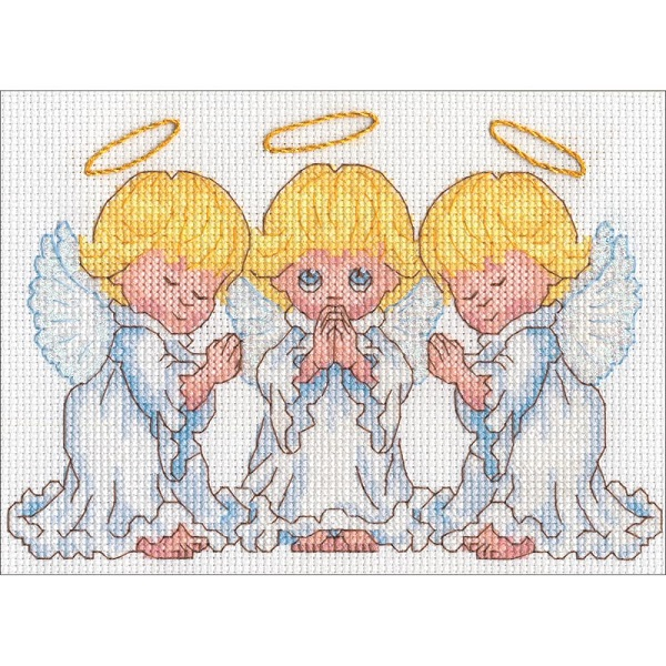 click here to view larger image of Little Angels (counted cross stitch kit)
