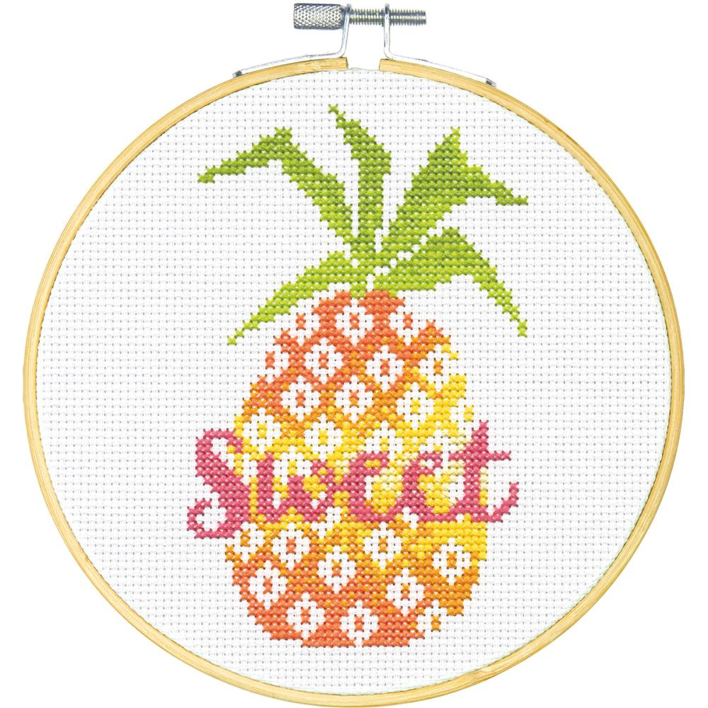 click here to view larger image of Sweet Pineapple (counted cross stitch kit)