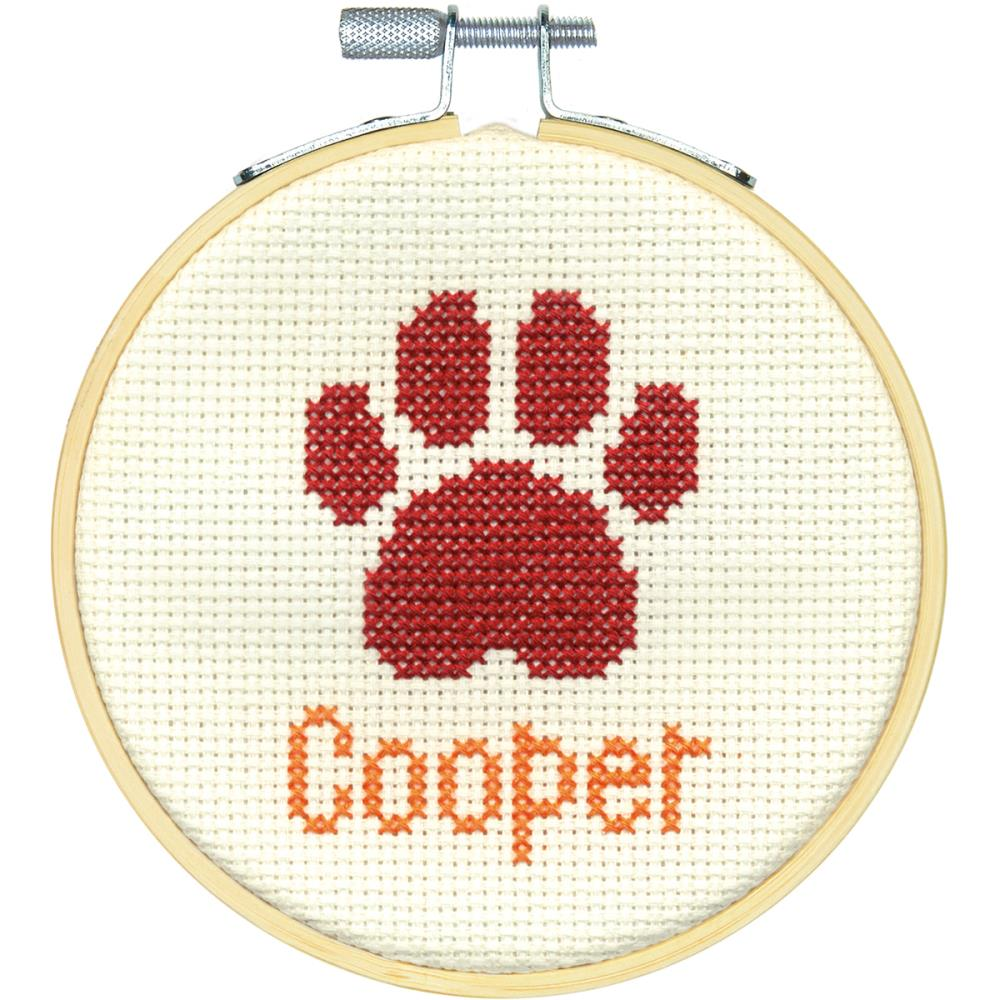 click here to view larger image of Paw Print (counted cross stitch kit)