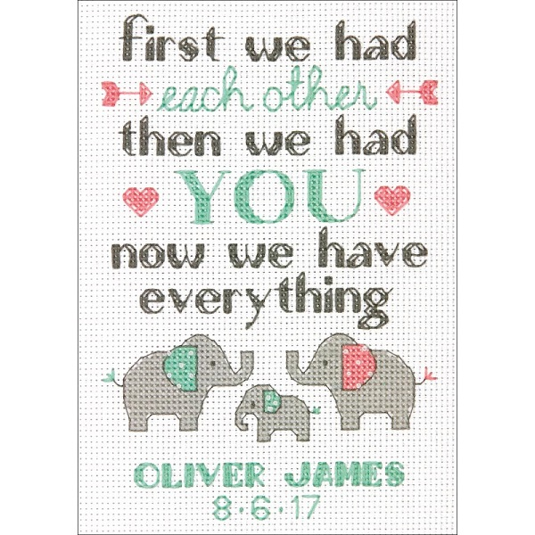 click here to view larger image of Family Birth Record (counted cross stitch kit)