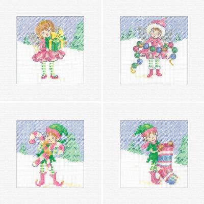 click here to view larger image of Christmas Card Assortment (counted cross stitch kit)