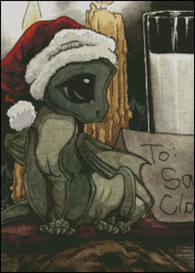 click here to view larger image of Christmas Dragon (chart)