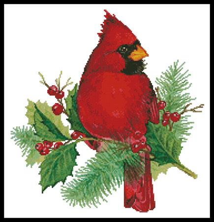 click here to view larger image of Cardinal and Holly (chart)