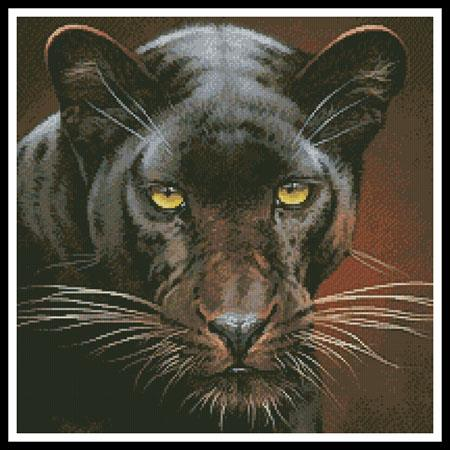 click here to view larger image of Black Panther Portrait (Crop) (chart)