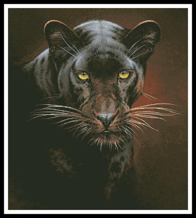 click here to view larger image of Black Panther Portrait (chart)