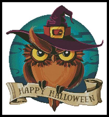 click here to view larger image of Halloween Owl (chart)