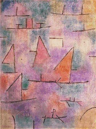 click here to view larger image of Harbour With Sailing Ships (Paul Klee) (chart)