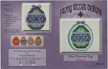 click here to view larger image of Blue Flowered Egg (chart)