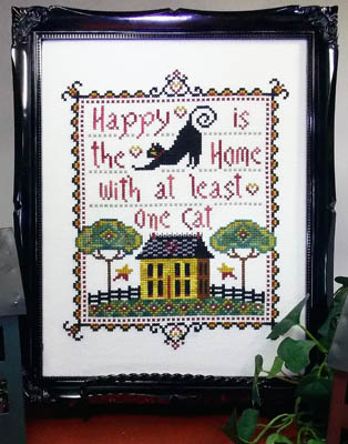 click here to view larger image of Happy Is The Home With At Least One Cat (chart)