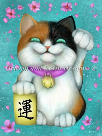 click here to view larger image of Calico Lucky Cat (chart)