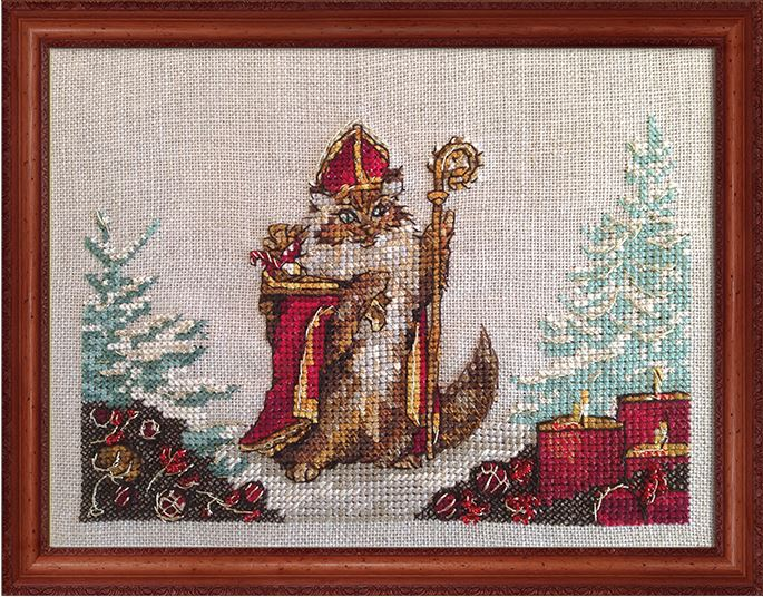 click here to view larger image of Chat Nicolas (Kit) (counted cross stitch kit)