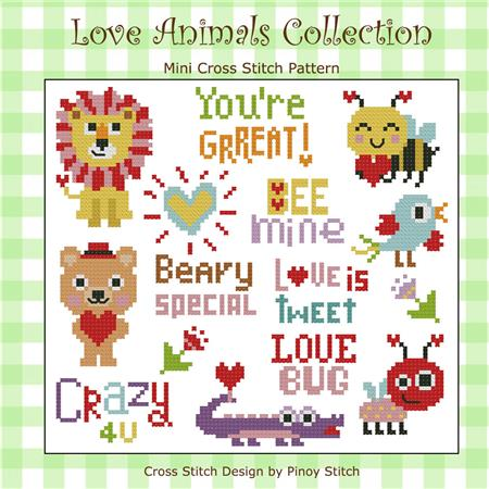 click here to view larger image of Love Animals Cross Stitch Collection (chart)
