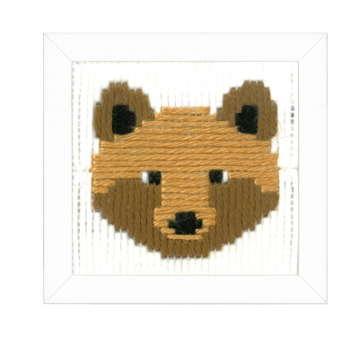 click here to view larger image of Bruno (Bear) Long Stitch (needlepoint)