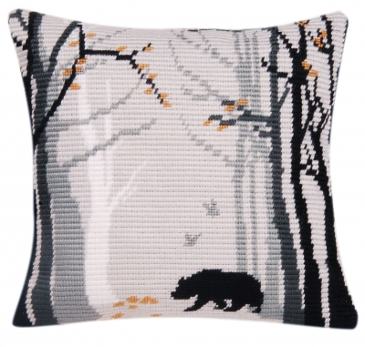 click here to view larger image of Bruno (Bear) Cushion (needlepoint)