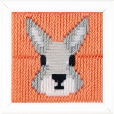 click here to view larger image of Yvonne (Rabbit) Long Stitch (needlepoint)