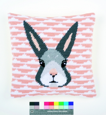 click here to view larger image of Yvonne (Rabbit) Cushion (needlepoint)