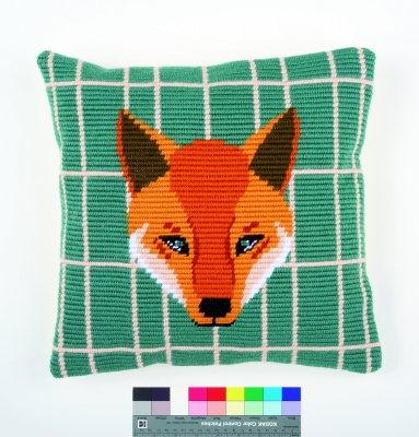 click here to view larger image of Gunther (Fox) Cushion (needlepoint)