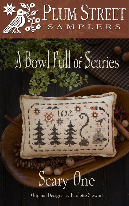 click here to view larger image of Bowl Full Of Scaries - Scary One (counted cross stitch kit)