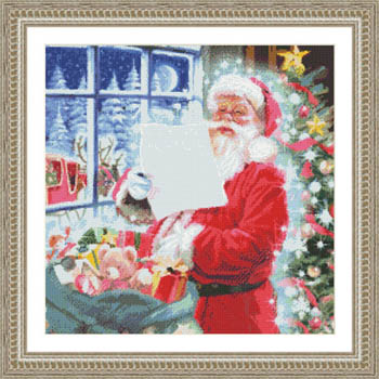 click here to view larger image of Santa Checking His List (chart)