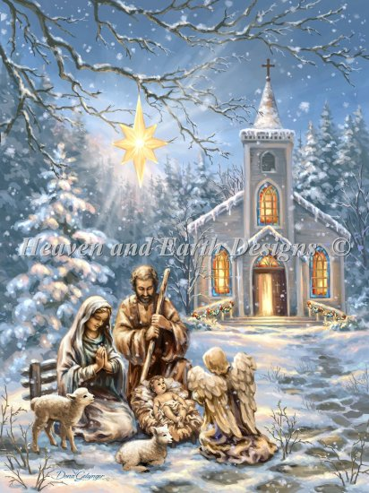 click here to view larger image of Nativity At The Chapel (chart)