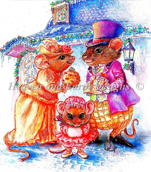click here to view larger image of Cratchit Christmas Mouse (chart)