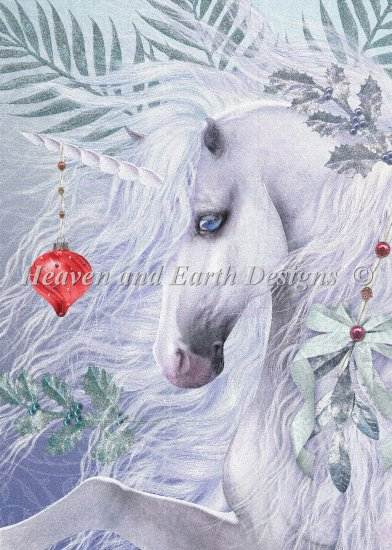 click here to view larger image of Christmas Unicorn (chart)