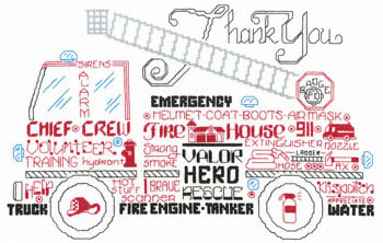 click here to view larger image of Lets Appreciate Firemen (chart)