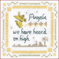 click here to view larger image of Angels We Have Heard Kit - Beyond Cross Stitch (Hardanger and Cut Work)
