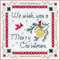 click here to view larger image of We Wish You Kit - Beyond Cross Stitch (Hardanger and Cut Work)