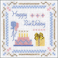 click here to view larger image of Happy Birthday Kit - Beyond Cross Stitch (Hardanger and Cut Work)