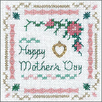 click here to view larger image of Happy Mothers Day Kit - Beyond Cross Stitch (Hardanger and Cut Work)