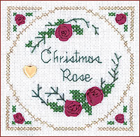 click here to view larger image of Christmas Rose Kit - Beyond Cross Stitch Level 2 (Hardanger and Cut Work)