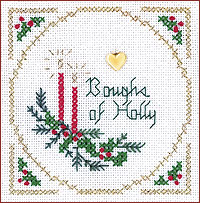click here to view larger image of Boughs Of Holly Kit - Beyond Cross Stitch Level 2 (Hardanger and Cut Work)