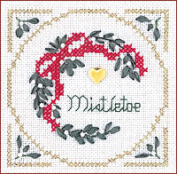 click here to view larger image of Mistletoe Kit - Beyond Cross Stitch Level 2 (Hardanger and Cut Work)