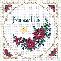click here to view larger image of Poinsettia Kit - Beyond Cross Stitch Level 2 (Hardanger and Cut Work)