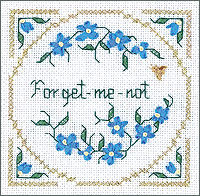 click here to view larger image of Forget-Me-Not Kit - Beyond Cross Stitch Level 2 (Hardanger and Cut Work)
